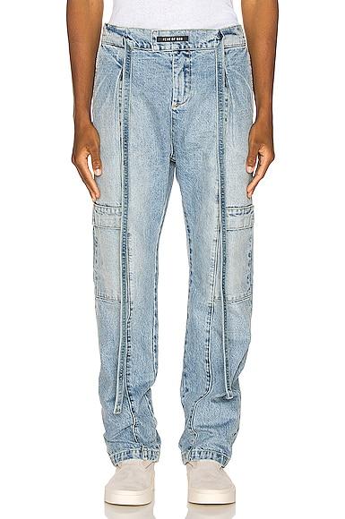 Denim Baggy Cargo Trouser