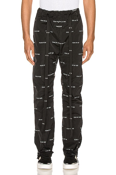 All Over Print Baggy Nylon Pant
