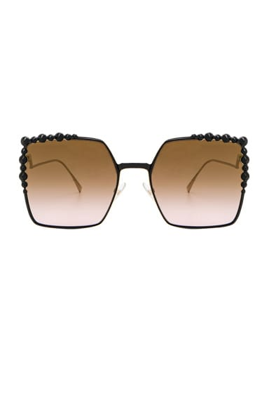 Square Embellished Sunglasses