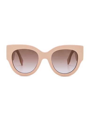 Round Color Block Sunglasses