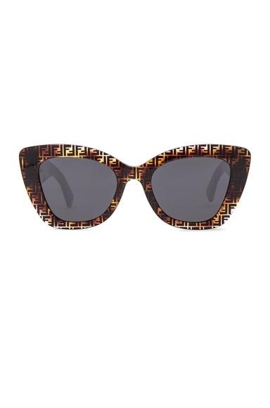 Logo Trim Sunglasses