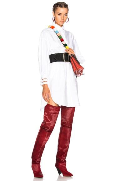 Fishtail Hem Shirt Dress