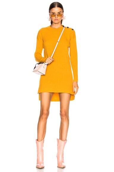 Cashmere Rib Sweater Dress