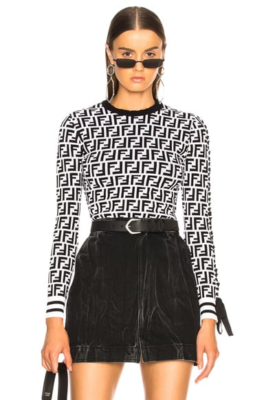 Logo Print Viscose Sweater