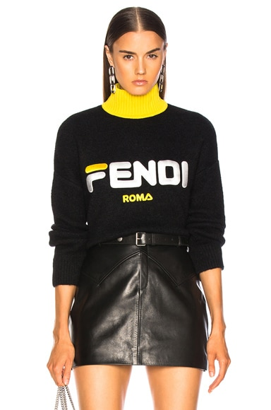 Fendi Mania Logo Oversized Sweater