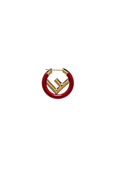 Mini Logo Hoop Single Earring