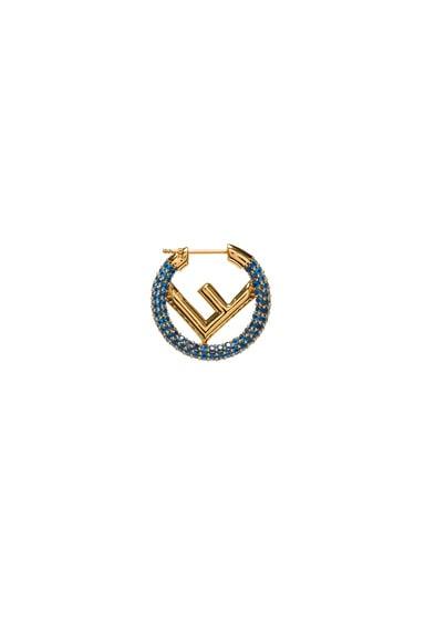 Mini Crystal Logo Hoop Single Earring