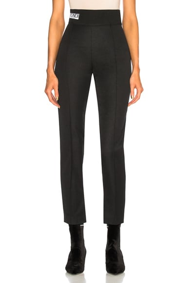 High Waisted Gabardine Trousers