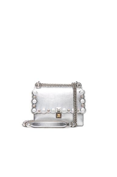 Embellished Kan l Shoulder Bag en Argent