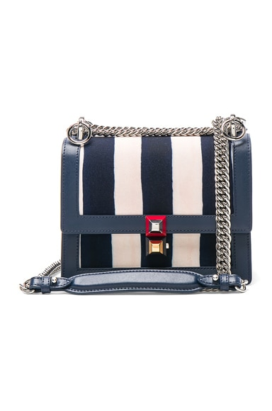Striped Small Kan l Shoulder Bag