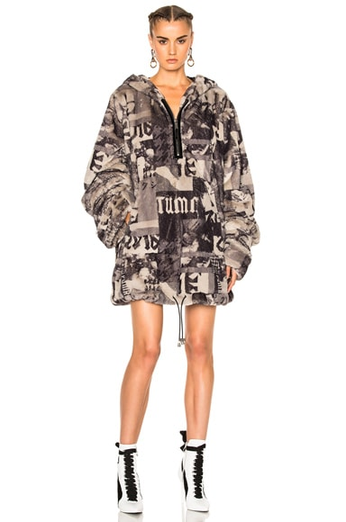 Printed Faux Fur Jacket