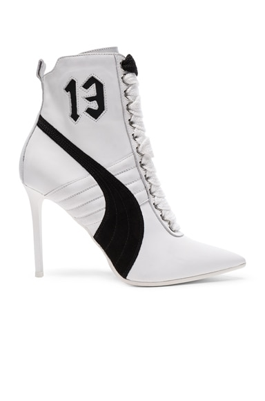 Leather High Heel Sneakers