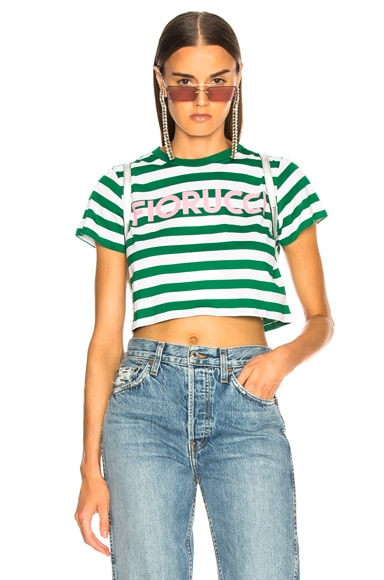 Iconic Stripes Cropped Tee