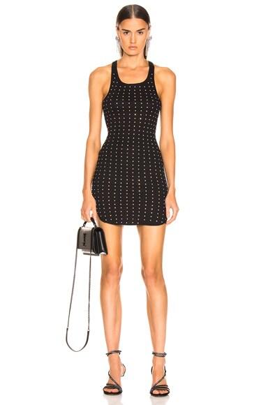 Allover Rhinestone Mini Dress