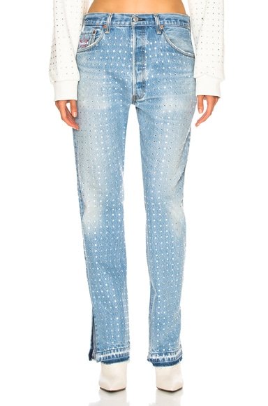 Levi's Reconstruction with All Over Rhinestones