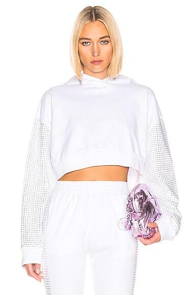 Kylie Crystal Crop Hoodie