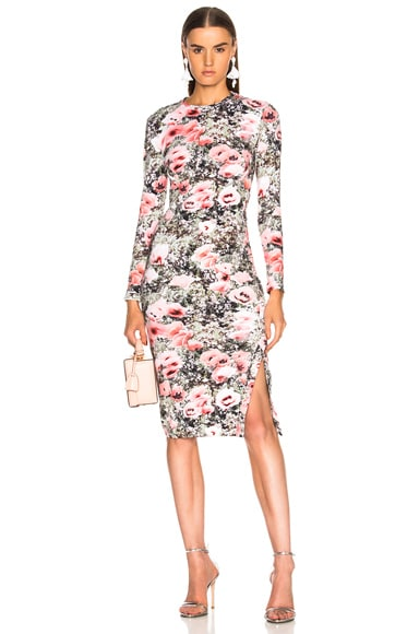 Printed Knit Dress with Side Snaps