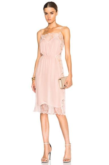 Rose Lace Applique Slip Dress