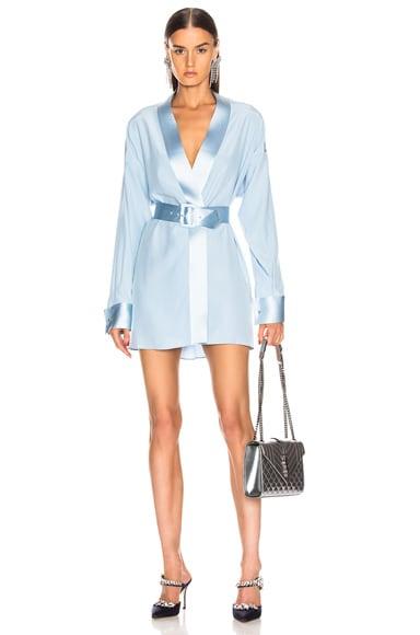 Cufflink Mini Wrap Dress