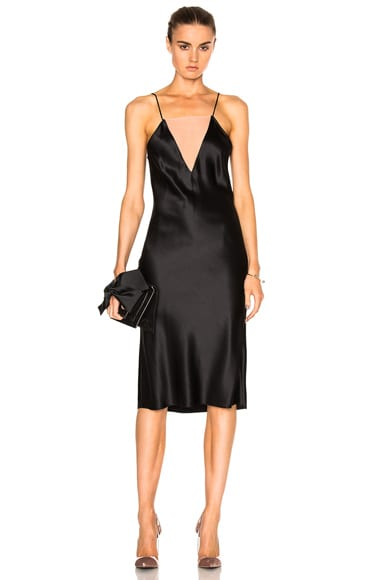Double Neckline Slip Dress