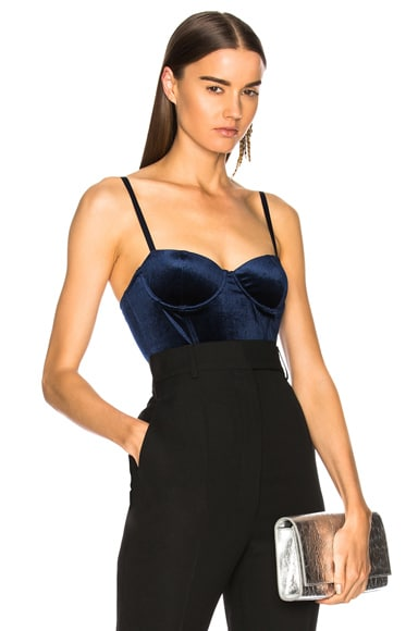 Velvet Balconette Bodysuit