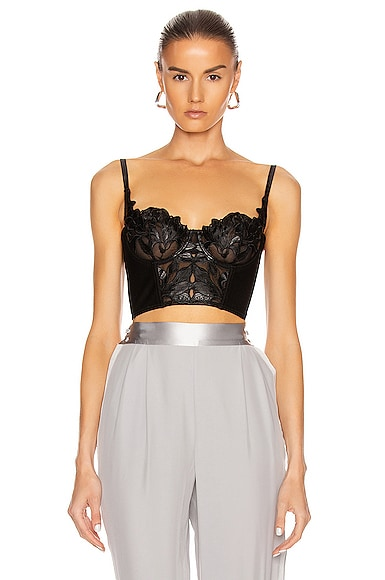 Faux Leather Lily Balconette Top
