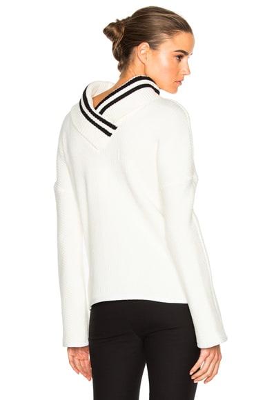 Reverse Varsity Sweater