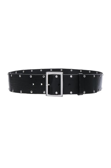 Denim Studded Classic Belt