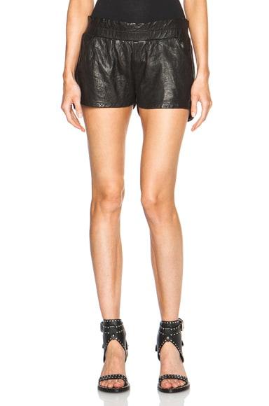 Leather Jogger Shorts