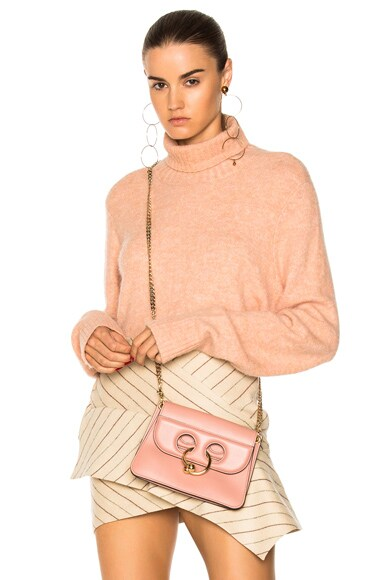 Denim Slouchy Turtleneck Sweater