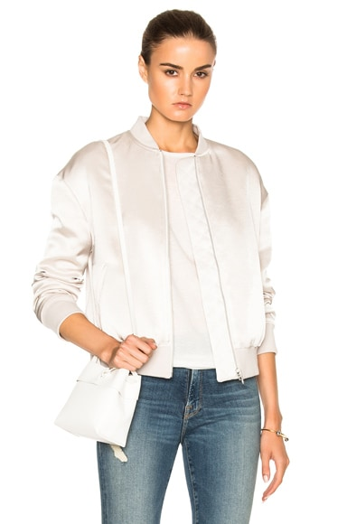 Denim Satin Bomber