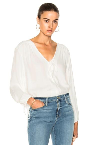 Crepe Lace Up Shirt