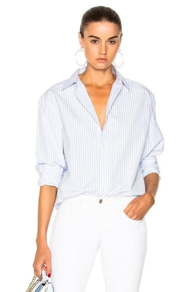 Striped Worn In Button Down Shirt
