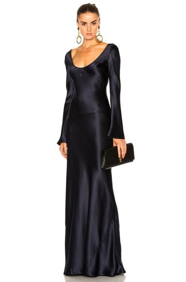 Long Sleeved Slip Dress