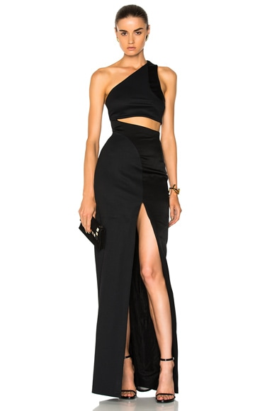 Asymmetrical Cut Away Dress