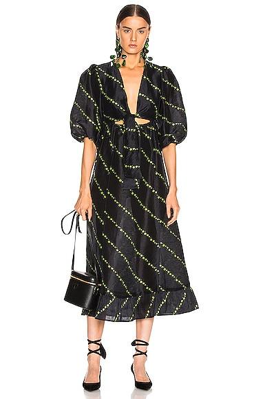 Silk Linen Dress