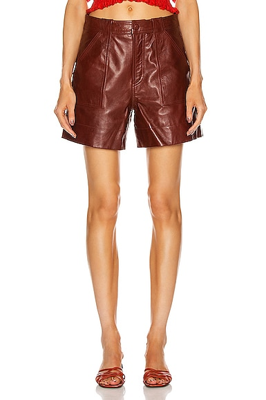 Lamb Leather Shorts