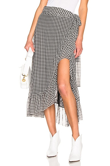 Printed Mesh Skirt