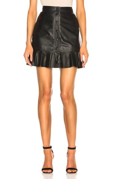 Thin Lamb Leather Skirt
