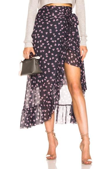 Tilden Mesh Wrap Skirt
