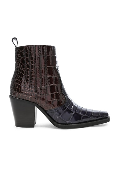 Croc Embossed Callie Boots