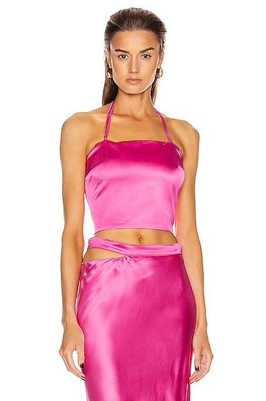 Turin Satin Bustier Top