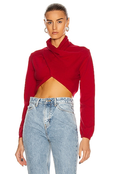 Nelson Cropped Wrap Top
