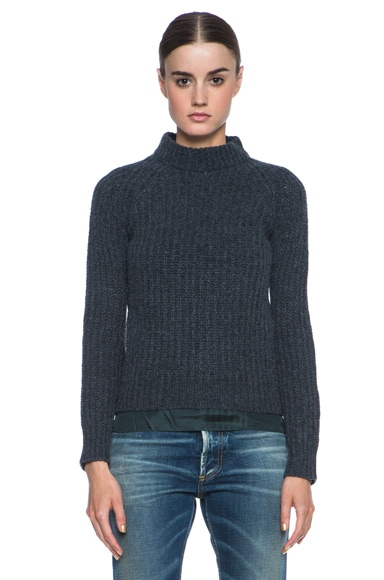 Wool-Blend Turtle Pullover