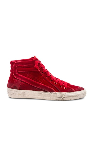 Velvet Slide Sneakers