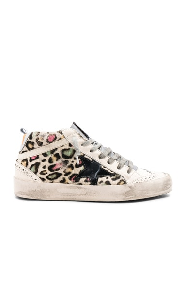 Cow Fur Mid Star Sneakers