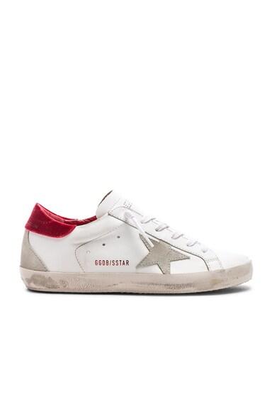 Leather & Velvet Superstar Sneakers
