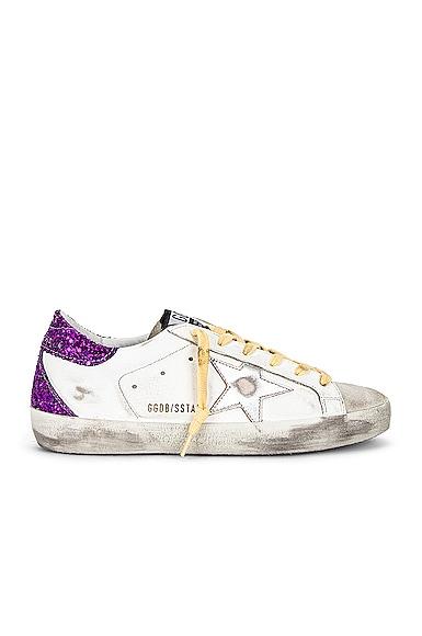 Golden Goose Superstar Sneaker in Purple,White