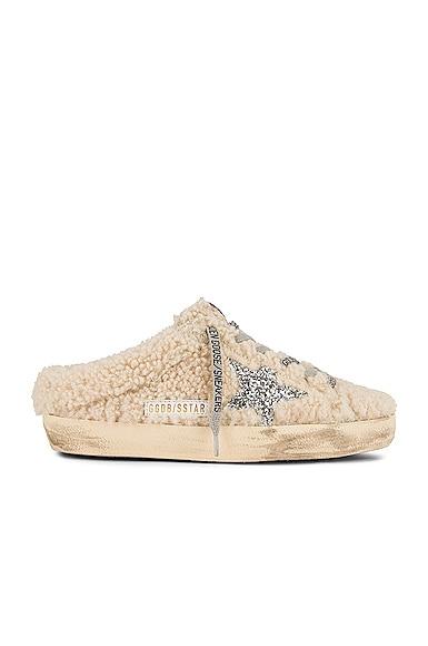 Golden Goose Super Star Sabot Sneaker in Cream