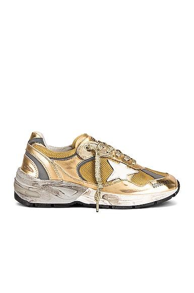 Golden Goose Running Dad Sneaker in Metallic Gold